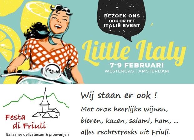 Little Italy 2020   Westergas Amsterdam   7, 8 en 9 Februari