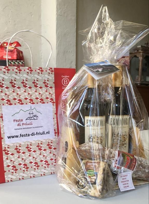 Italiaans cadeaupakket thuis bezorgd