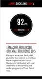 Italiaanse rode wijn 92 punten James Suckling