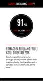 Italiaanse witte wijn Friulano topscore James Suckling 91 punten