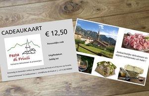 Cadeaukaart € 12,50