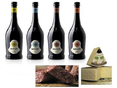 Italiaans bierpakket met salami en kaas