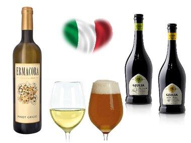 Italiaans bier en wijnpakket