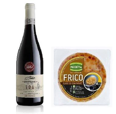 Rode biologische wijn met Frico