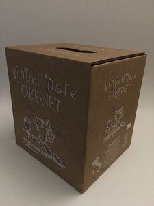 wijntap - bag in box - italiaanse rode wijn - cabernet 5 lt