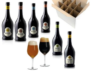 Proefdoos Italiaans bier - 6 flesjes met bierglas
